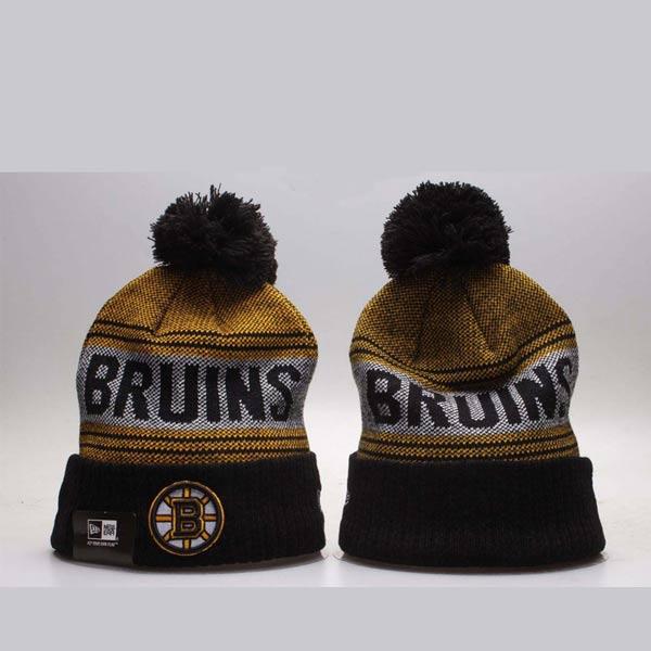 Gorro Boston Bruins preto e amarelo