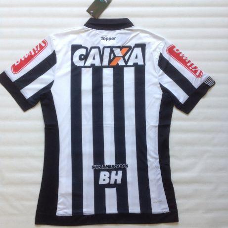 Camisa Atlético Mineiro 2018 Manga curta preta e branca costas