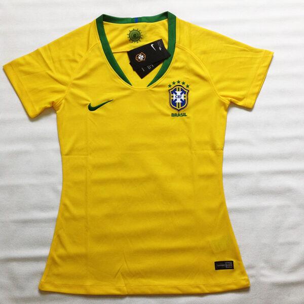 Camisa Seleção Brasileira Feminina amarela frente
