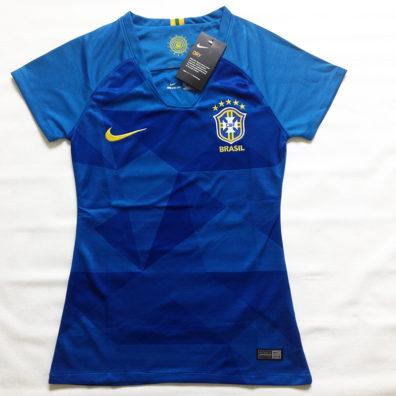 Camisa Seleção Brasileira Feminina azul foto real