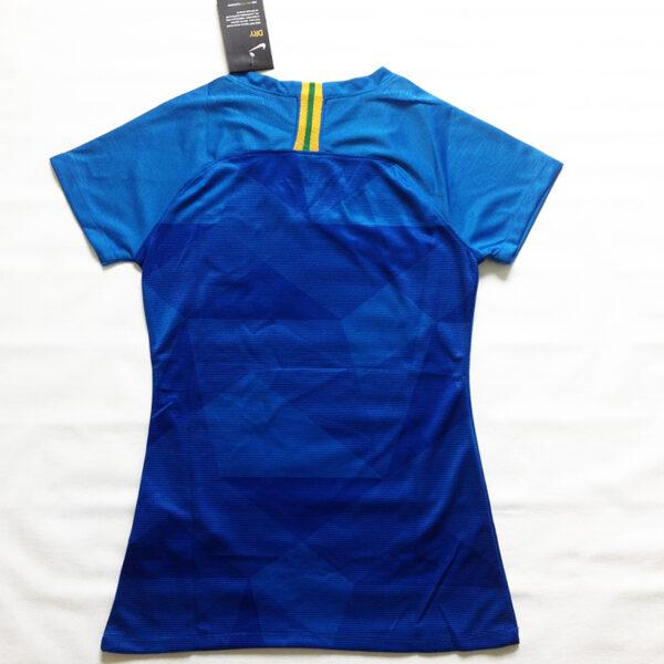 Camisa Seleção Brasileira Feminina azul costas