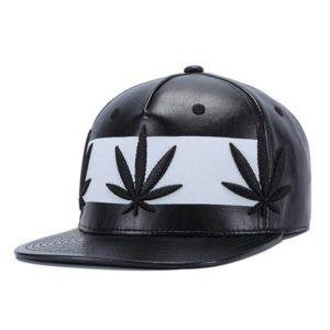 Chapéu Boné Cannabis preto