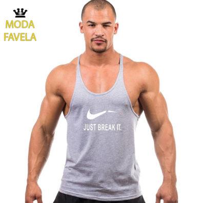 T-shirt Just Break It Caviada cinza