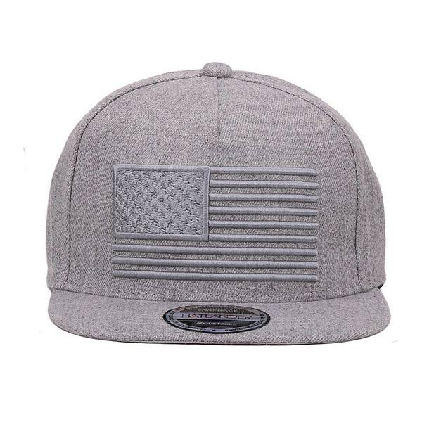Chapéu USA boné cinzento