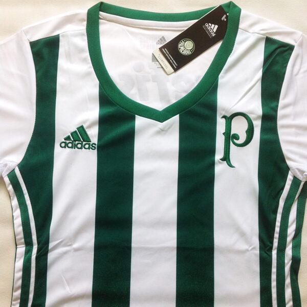 Camisa Palmeiras Feminina foto real frente