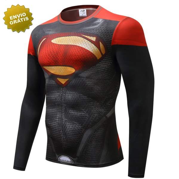 T-shirt Superman manga comprida