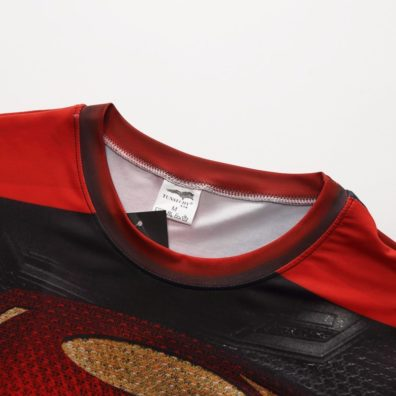 Camiseta Super-Homem homem vermelha