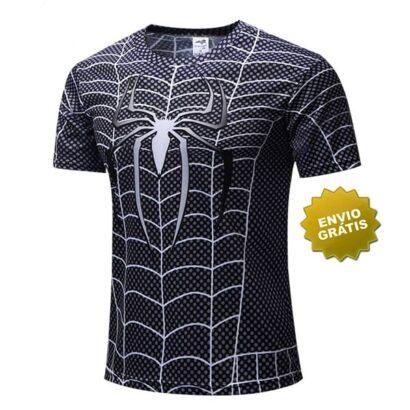 T-shirt Spider-Man preta frente