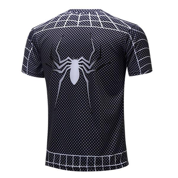 T-shirt Spider-Man preta