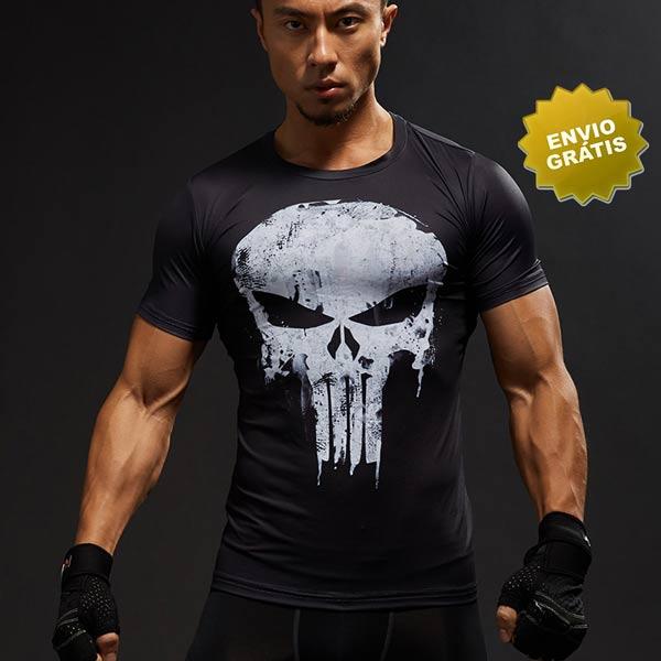 T-shirt Punisher Manga Curta frente