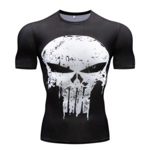 T-shirt Justiceiro Punisher Preta