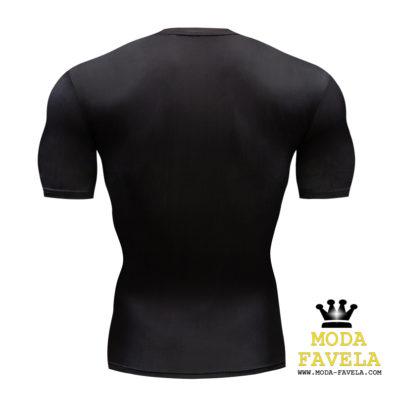 T-shirt Punisher Manga Curta costas preta