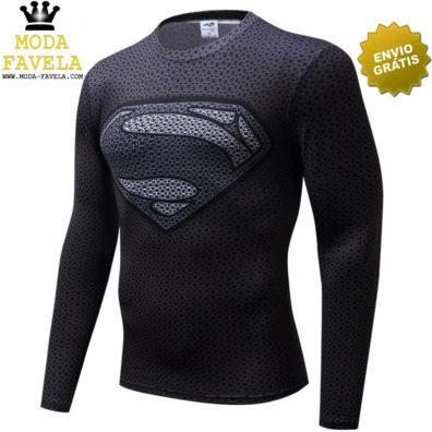 T-shirt Super-homem Manga Comprida longa