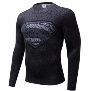 T-shirt Rash Guard Super-Homem Comprida longa
