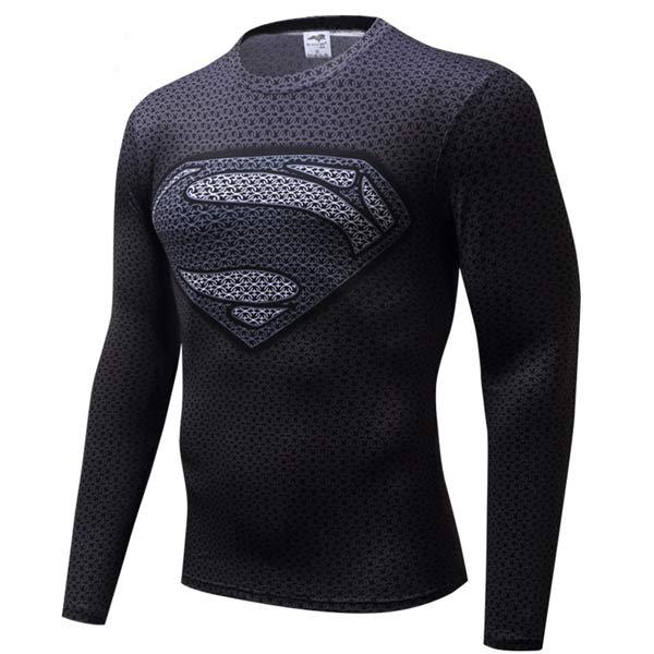 T-shirt Rash Guard Super-Homem Comprida longa