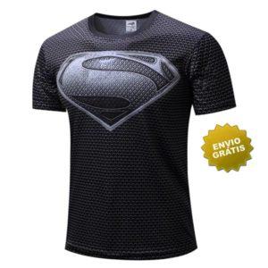 T-shirt Super-homem preta Manga curta