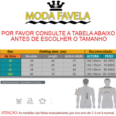 T-shirt Caviada com Capuz tabela
