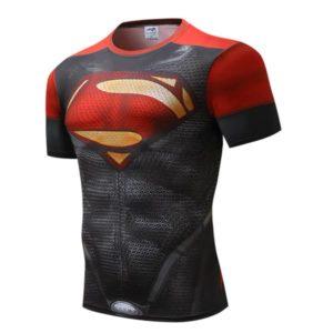 Camiseta Super-Homem vermelha e preta