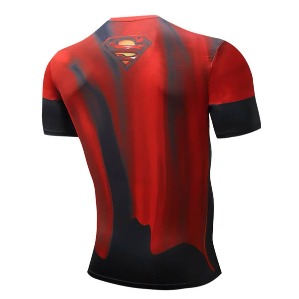 T-shirt Super-homem Superman Manga Curta Super-Heróis