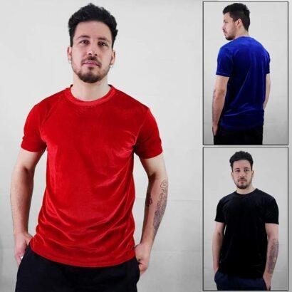 T-shirt Veludo Manga Curta