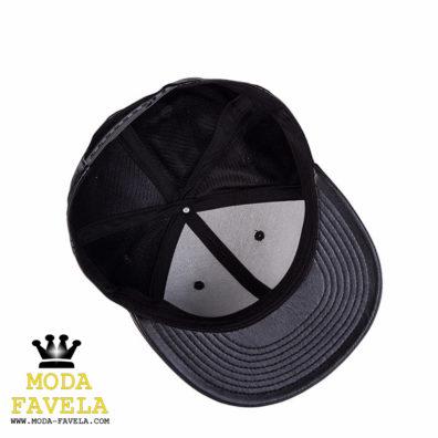 Chapéu em couro PU preto