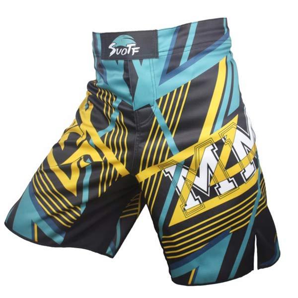 Calção MMA Azul preto shorts