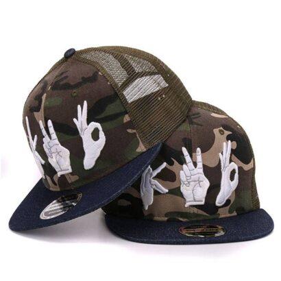 Boné camuflado de rede chapéu boné caps