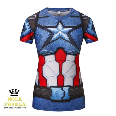 T-shirt Capitão América feminina