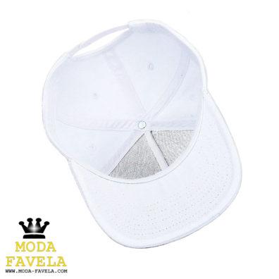 Chapéu Caveira Branco snapback