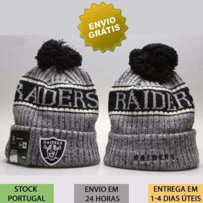 Gorro Oakland Raiders NFL cinzento
