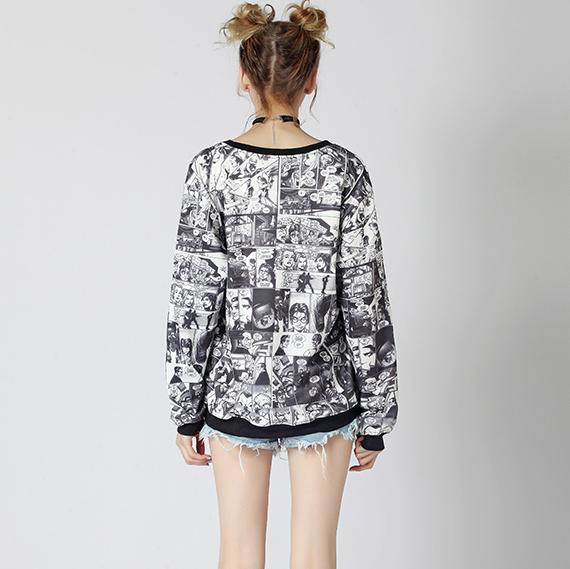 Camisola Marvel banda desenhada Feminina costas