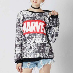 Camisola Marvel banda desenhada senhora