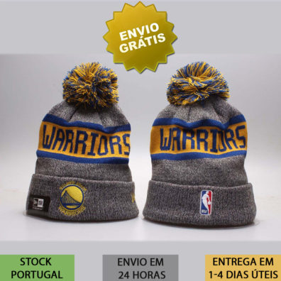 Gorro Golden State Warriors cinzento NBA.