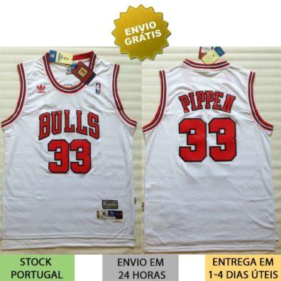 Camisola NBA Scottie Pippen Chicago Bulls 33 foto real