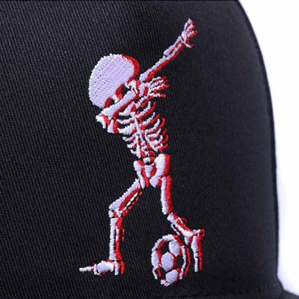 Boné Skull Dab Dance Chapéu snapback cap pala reta estilo baseball aba reta hip hop