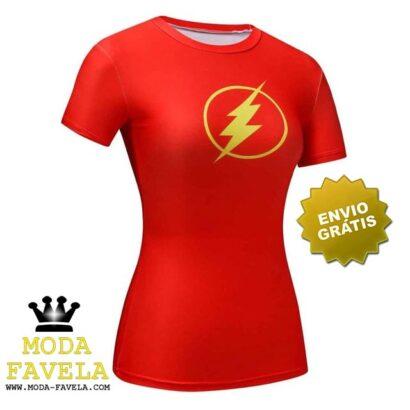 T-shirt Feminina Flash red