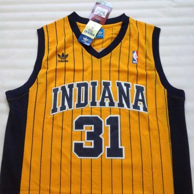 Camisola Indiana Pacers Miller 31 camisa de basketball