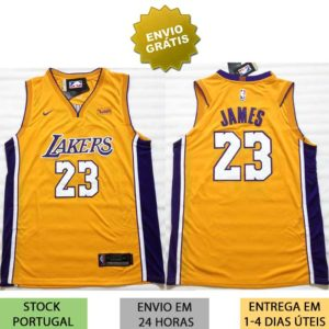 Camisola Los Angeles Lakers James amarela