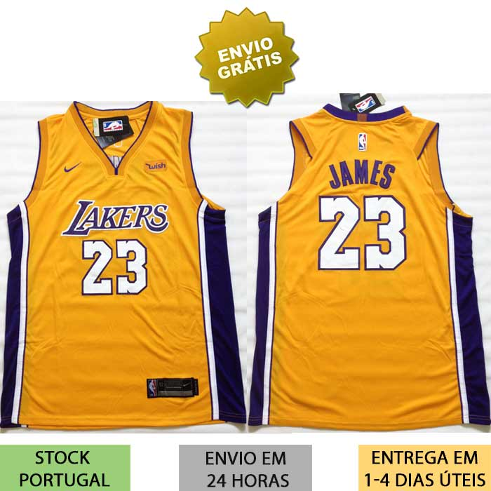 new styles 33b69 b3033 Camisola Los Angeles Lakers James Jersey NBA
