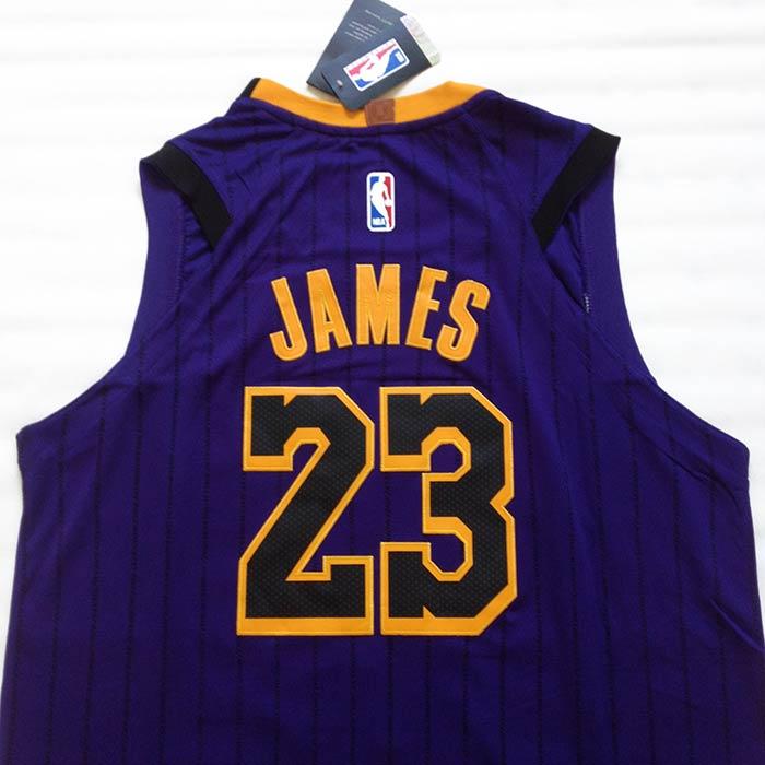 Camisa De Basquete Lakers Roxa