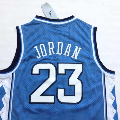 Camisola Carolina do Norte Jordan azul 23 NCAA