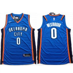 Camisola Oklahoma City Thunder Westbrook frente e costas