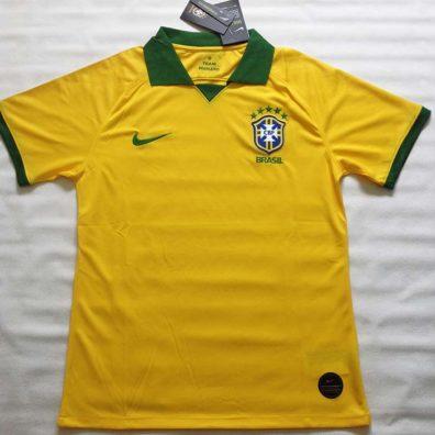 Camisa Brasil Copa América 2019 Amarela foto real