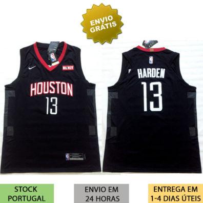 Camisola Houston Rockets Harden preta 2018/2019