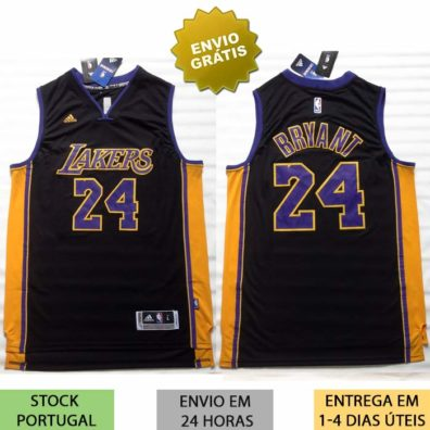 Camisa Los Angeles Lakers Kobe Bryant preta
