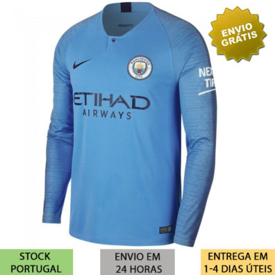 Camisola Manchester City manga comprida