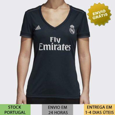 Camisola Real Madrid Feminina preta