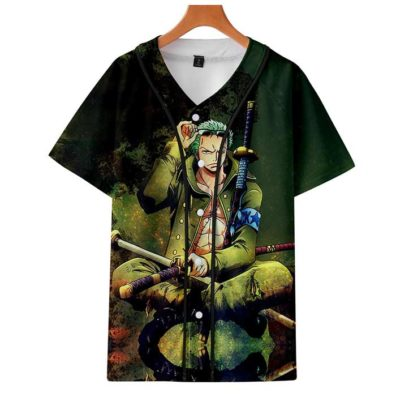 T-shirts One Piece zoro verde
