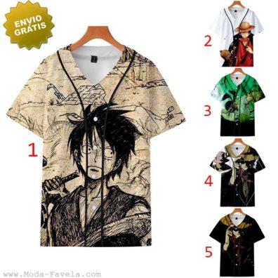 T-shirt/Camisa One Piece Luffy baseball