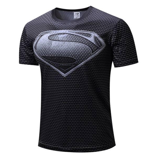 Manga curta Super-homem preta